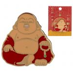 Lucky Buddha Design Enamel Pin Badge