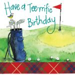 Birthday Card - Golf Tee-rrific - Sparkle - Alex Clark
