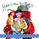 Cat Lover Card - Home is where the Cat is - Sparkle - Alex Clark