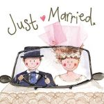 Wedding Day Card - Just Married - Sparkle - Alex Clark