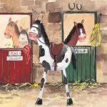 Greetings Card - Alice's Stable Horse Pony - Alex Clark