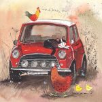 Greetings Card - Mini Car - Alex Clark