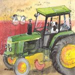 Greetings Card - Green Tractor John Deere  - Alex Clark