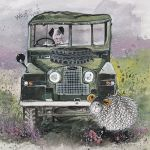 Greetings Card - Land Rover Defender - Alex Clark