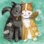 Greetings Card - Toffee & Treacle Cats - Alex Clark