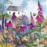 Greetings Card - Bee Garden - Alex Clark