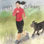 Birthday Card - Female Lady Runner - Alex Clark