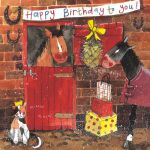 Birthday Card - Stable Lads Horse Pony - Alex Clark