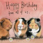 Birthday Card - From All Of Us The Three Guineas - Alex Clark