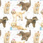 Cockapoo Dog Wrapping Paper Sheets & Tags - Arty Penguin