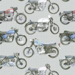 Motorbike Classic Wrapping Paper Sheets & Tags - Arty Penguin
