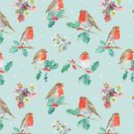 Christmas Robin & Holly Wrapping Paper 4 Sheets & Tags - Arty Penguin