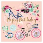 Birthday Card - Female Bicycle Bike - Talking Pictures