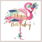 Birthday Card - Female Flamingo - Talking Pictures