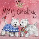 Christmas Card Charity Pack - Westie Wonderland Dog - Alex Clark