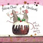 Christmas Card - Eat Drink Be Merry Mice - Sparkle - Alex Clark