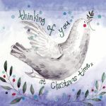 Christmas Card - Thinking of You Dove - Sparkle - Alex Clark