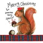 Christmas Card - Someone Very Special Squirrel - Sparkle - Alex Clark