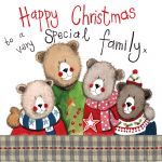 Christmas Card - Special Family - Bear - Sparkle - Alex Clark