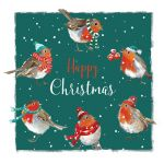 Christmas Card - Merry Robins - The Wildlife Ling Design