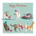 Christmas Card - Purrfect Xmas Cats - The Wildlife Ling Design