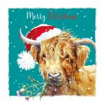 Christmas Card - Highland Cow - The Wildlife Ling Design