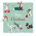 Christmas Card - Paw-fect Xmas Dogs - The Wildlife Ling Design