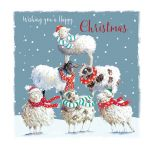Christmas Card - Winter Woolies Sheep - The Wildlife Ling Design