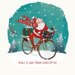 Charity Christmas Card - Santa Xmas Delivery - Children with Cancer UK