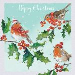 Luxury Boxed Christmas Cards - 10 Cards Winter Robins - Ling Design