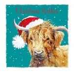 Charity Christmas Card Pack - 6 Cards Highland Cow - Ling Design