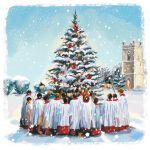 Charity Christmas Card Pack - 6 Cards Singing Around the Tree - Ling Design