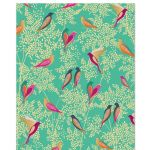 Birds Green Luxury Gift Wrap Sheet - Sara Miller