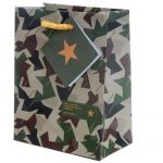 Camouflage Small Gift Bag - 11 x 6 x 14cm