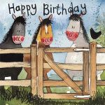 Birthday Card - By The Gate Horse Pony - Alex Clark