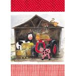 Tea Towel - Farmyard Farm Tractor - Alex Clark