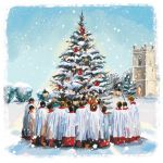 Charity Christmas Card - Singing Around the Tree - Ling Design