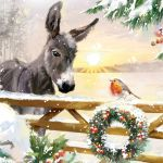 Charity Christmas Card - Donkey & Robin - Ling Design