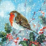 Charity Christmas Card - Robin in the Snow - Ling Design