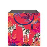 Zebra Pink Gift Bag - Medium - Sara Miller