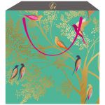Birds Green Gift Bag - Medium - Sara Miller