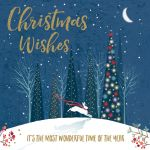 Charity Christmas Card Pack - Xmas Wishes Magical Forest - Foiled Modern