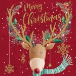 Charity Christmas Card Pack - Special Time Of Year Reindeer - Foiled Modern