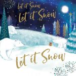 Charity Christmas Card Pack - Let It Snow - Foiled Modern