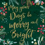 Charity Christmas Card Pack - Merry & Bright - Foiled Modern