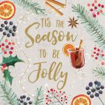 Charity Christmas Card - 'Tis The Season To Be Jolly - Foiled Modern