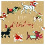 Luxury Boxed Christmas Cards - 10 Cards Xmas Walkies Dog - Ling Design