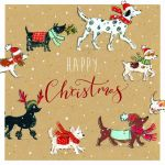 Christmas Card - Xmas Walkies Dog - Ling Design
