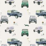 Land Rover Defender & Dogs Off Roader Wrapping Paper Sheets & Tags - Arty Penguin