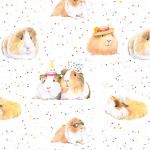 Guinea Pig Party Wrapping Paper Sheets & Tags - Arty Penguin